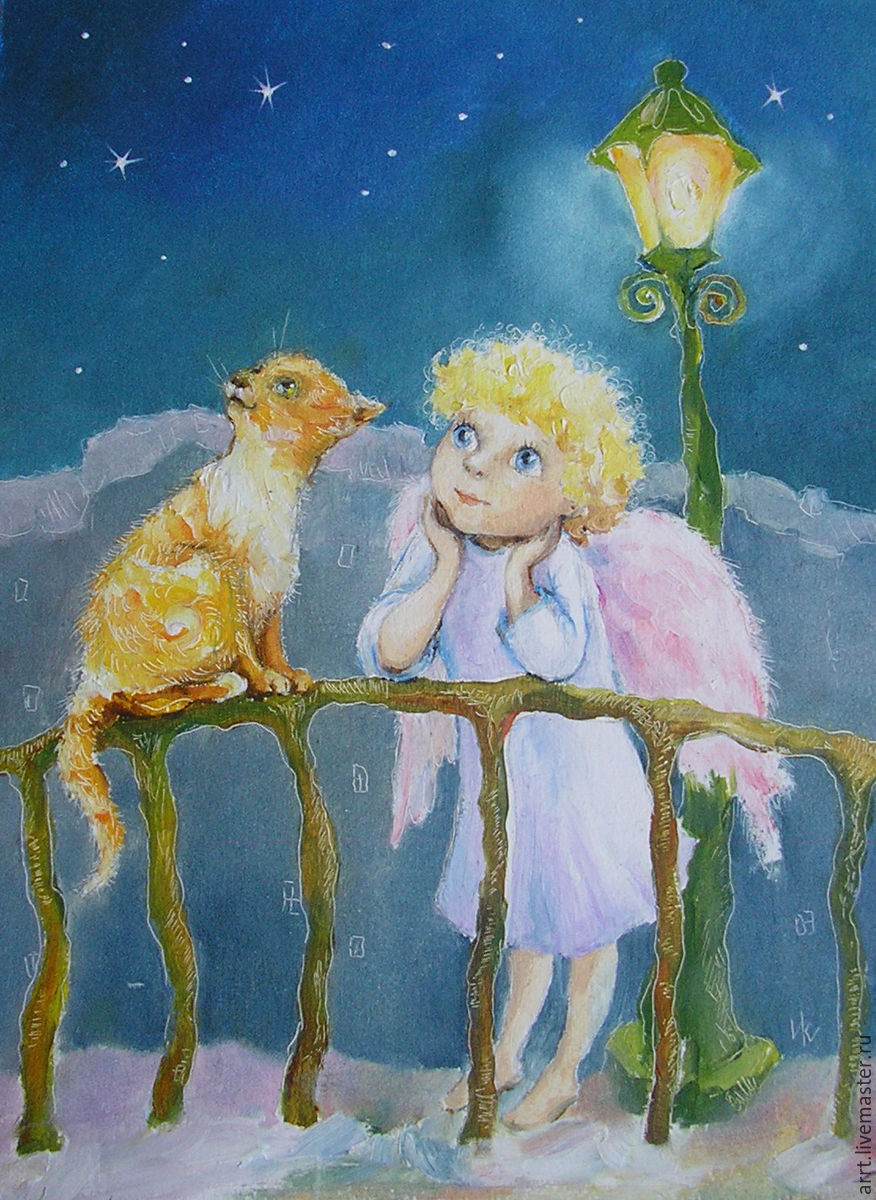 Ангел и кот картинки